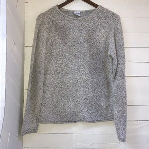 Columbia sweater with leather tag in back